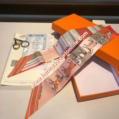 Hermes Courvertures Nouvelles Vichy Twilly In Orange