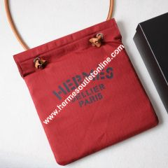Hermes Aline Bag Canvas In Red