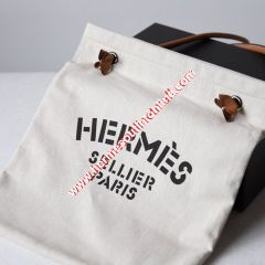 Hermes Aline Bag Canvas In White