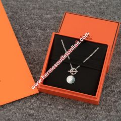 Hermes Gambade Necklace Silver