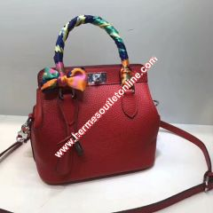 Hermes Toolbox Bag Swift Leather Palladium Hardware In Red