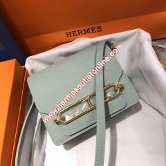 Hermes Roulis Bag Epsom Leather Gold Hardware In Light Grey