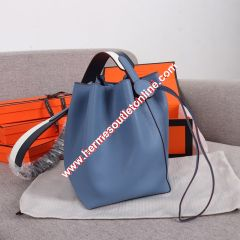 Hermes Licol Bag Evercolor Calfskin Palladium Hardware In Sky Blue