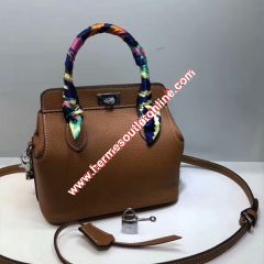 Hermes Toolbox Bag Swift Leather Palladium Hardware In Brown