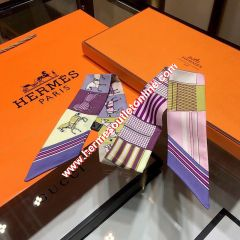 Hermes Courvertures Nouvelles Vichy Twilly In Purple
