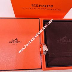 Hermes Ring With Crystal Rose