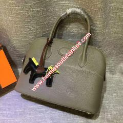 Hermes Bolide Bag Togo Leather Palladium Hardware In Grey