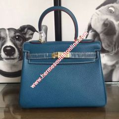 Hermes Kelly Bag Togo Leather Gold Hardware In Teal