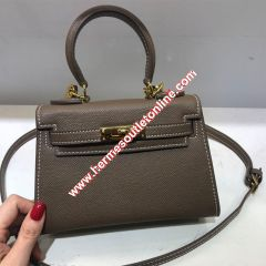 Hermes Kelly Bag Epsom Leather Gold Hardware In Coffee