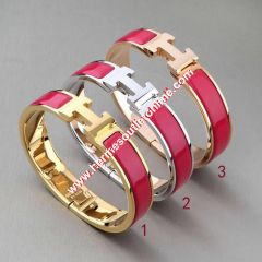 Hermes Clic H Bracelet In Rose
