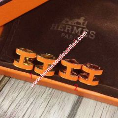 Hermes Pop H Earrings In Orange